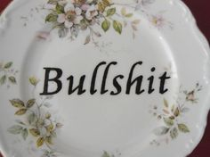 reworked bone china plate from Trixiedelicious