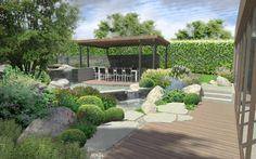 posezení v zahradě / seating area in the garden