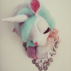 Unicorn Faux Taxidermy by Gayle Cook @theconstantcreative