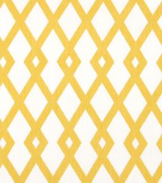 Home Decor Print Fabric-Robert Allen at Home Best Fret Butter---Material for makeover of seat covers for dinning chairs