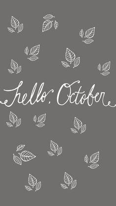 """Hello, October"" FREE iPhone Wallpaper — Victoria Bilsborough"