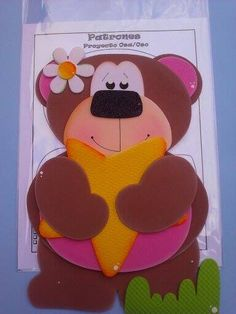 Osa Foam Crafts, Paper Crafts, Cottage Crafts, General Crafts, Ideas Para, Tapas, Applique, Cute Animals, Bunny