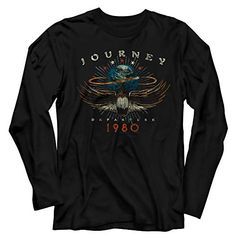 Journey Departure 1980 Long Sleeve T-Shirt Check out this cool, officially licensed Journey Long Sleeve T-shirt. Each shirt features the Departure 1980 design on a cotton tee. Concert Shirts, Tee Shirts, Rock Concert, Vintage Rock T Shirts, Rock And Roll Fashion, Rocker, Thermal Shirt, Journey, Tour T Shirts