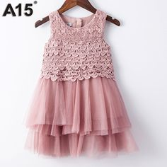 Check it on our site A15 Princess Dresses for Little Girls Dress Girl Baby Summer 2017 Red Dress for Girl Flower Lace Princess Prom Age 3 6 8 10 Year just only $12.99 - 14.99 with free shipping worldwide  #girlsclothing Plese click on picture to see our special price for you