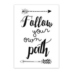 Jots Kaart Follow your own path - twentysomethin.nl