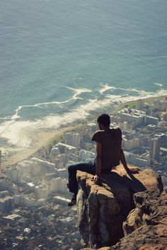 Atop Lion's Head in Cape Town, South Africa #travel #travelphotography #travelinspiration #southafrica #YLP100BestOf #wanderlust