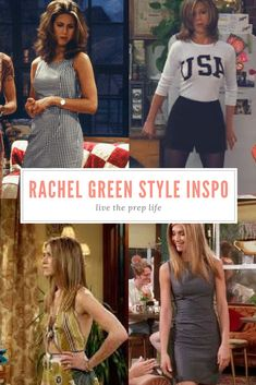 Steal her style: outfits inspired by rachel green // live the prep life Rachel Green Outfits, Rachel Green Costumes, Friends Rachel Outfits, Rachel Green Style, Rachel Green Friends, Friend Outfits, Fashion Kids, Friends Fashion, 00s Fashion