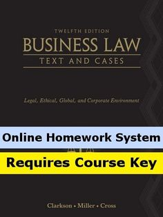 CengageNOW (with eBook) for Business Law: Text and Cases – Legal, Ethical, Global, and Corporate Environment, 12th Edition  http://www.bestcheapsoftware.com/cengagenow-with-ebook-for-business-law-text-and-cases-legal-ethical-global-and-corporate-environment-12th-edition/