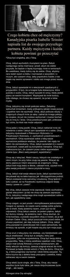 I dlatego zostanę sama do końca życia... Tacy ludzie chyba nie istnieją T-T Words Quotes, Sayings, Real Quotes, E Mc2, Sad Love, Wtf Funny, Man Humor, Motto, Inspire Me