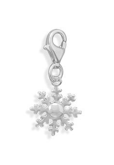 Snowflake Charm with Lobster Clasp