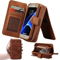 Dazzling Genuine Leather Multi Function Zipper Wallet with Magnetic Removal Samsung Galaxy Case! - 100% BRAND NEW and EXQUISITE QUALITY - Quick-Access Magnetic Phone Attach and Remove - 14 Card Slots - Interior Zipper Pouch - Extra Large Accessory Pocket - Snap Closure - ID Card Slot Window - Outer Handle for Easy Carrying Get yours now! https://www.leathervault.com/collections/leather-galaxy-cases/products/dazzling-leather-wallet-samsung-case