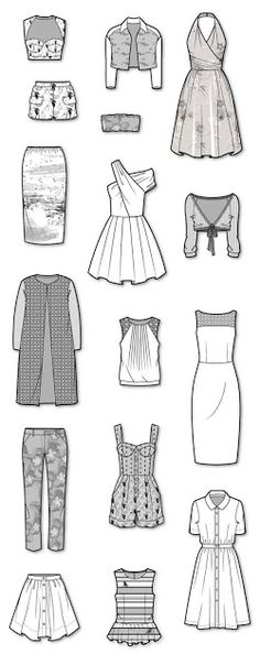 Flat/ Technical Fashion Drawings