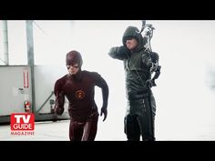 Arrow! The Flash! Cover shoot with Stephen Amell and Grant Gustin!