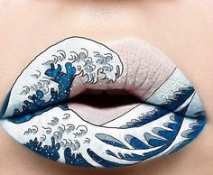 #LapoElkann Lapo Elkann: Hokusai lips . #