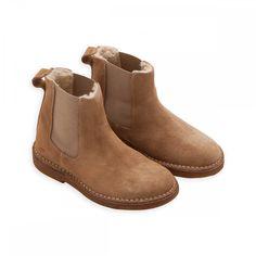 Boots Bonton fourrées beige - chaussure Garçons Filles - BONTON