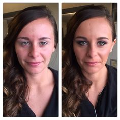 Before and after of bridesmaid, Sam