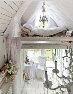 Hunting cabin turned romantic Victorian hideaway.