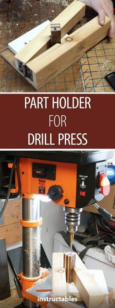 If you need to secure a small part on your drill press, check out this jig! #drillpress #workshop #hack #woodworkingtools