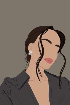 Illustration Art Drawing, Woman Illustration, Portrait Illustration, Digital Illustration, Art Drawings, Digital Art Girl, Digital Portrait, Portrait Art, Abstract Face Art