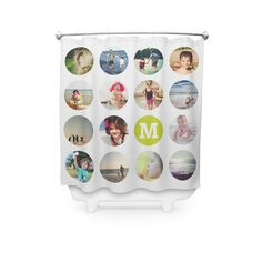 Add fun and whimsy to your bathroom decor with a printed shower curtain