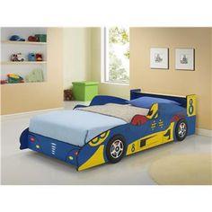Blue Race Car Bed 3805