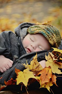 Cute fall photo with baby Baby Kind, Baby Love, Beautiful Children, Beautiful Babies, Beautiful Moments, Little People, Little Boys, Baby Pictures, Baby Photos