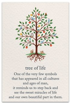 Tree of Life: One of the very few symbols that has appeared in all cultures and ages of man - it reminds us to step back and see the sweet miracles of life and our own beautiful part in them. Wicca, Magick, Witchcraft, Yi King, Tattoo Symbole, Ages Of Man, Illustration Photo, Handpoke Tattoo, Spiritual Symbols