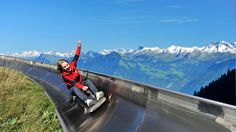 Get into the groove on Switzerland's longest summer toboggan run - 1350 metres of tempo and top-notch fun.