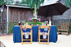Decorate chair with goodies for guests.