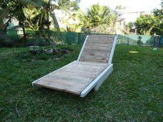 Pallet garden lounger