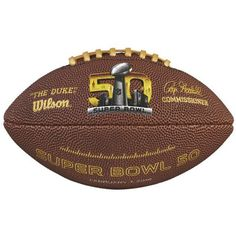 Wilson Sport Super Bowl 50 Mini Replica Ball (125 VEF) ❤ liked on Polyvore featuring men's fashion en brown