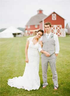 That dress!!--  And No jacket necessary. The groom looks great without it!