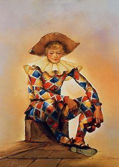 ''Harlequin'' Georges Corominas