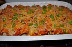 Healthy Chicken Enchiladas