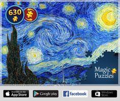 iPadアプリの『マジックジグソーパズル』でこのパズルを解きました。ぜひやってみて!