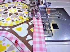 Sweet Dreams Bedside Caddy - Sew4Home Bed Caddy, Bedside Caddy, Trouble Falling Asleep, Fabric Pen, Fusible Interfacing, Pink Gingham, Janome, Diamond Pattern, Storage Solutions