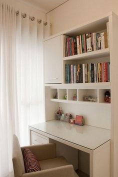 DIY bookshelf desk study plus many other great ideas for home Home Office Design, Home Office Decor, Home Decor, Office Ideas, Office Style, Study Room Decor, Bedroom Decor, Bedroom Ideas, Bookshelf Desk