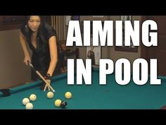 "Aiming in Billiards and Pool with Jeanette Lee the ""Black Widow"" Pool Table Games, Pool Table Room, Bar Games, Pool Games, Basement Bar Designs, Home Bar Designs, Billiards Bar, Play Pool, Pool Fun"