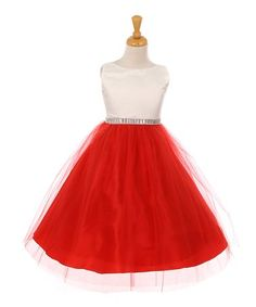 Loving this Ivory & Red A-Line Dress - Toddler & Girls on #zulily! #zulilyfinds