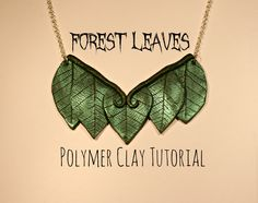 EASY Forest Leaves  #Polymer #Clay #Tutorial