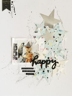 #papercrafting #scrapbook #layouts: 'Happy' by HelloTodayCreate at @studio_calico