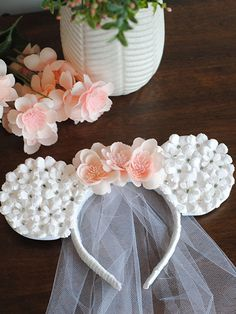 Bridal Shower Idea - Bride Minnie Mouse Ears - Or so she says. Minnie Mouse, Mickey Mouse Wedding, Mouse Ears, Bridal Shower Gifts For Bride, Bridal Shower Favors, Bridal Shower Decorations, Bride Gifts, Disney Wedding Shower, Disney Bridal Showers