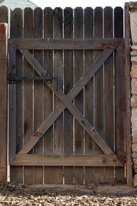 double wooden gate how-to
