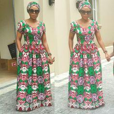 Ankara maxi dress @nedim_designs