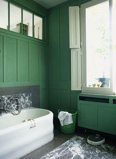 Salle de bain. Green