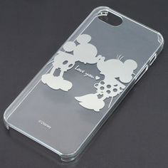 iPhone 5 Clear Hard Case Cover Disney 08 Mickey Mouse Minnie Mouse | eBay