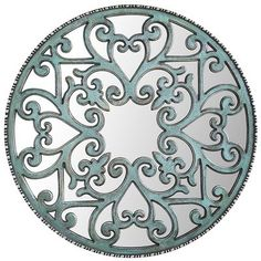 Carved Scroll Wall Decor - Teal