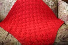 Nice baby blanket - free pattern.