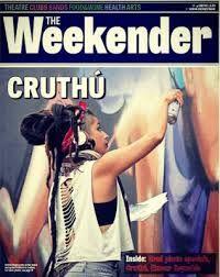 Cruthu Art festival , street artist , dreadlocks , rasta girl , urban art, spraycans