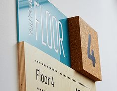Stand out signage using colour and material.